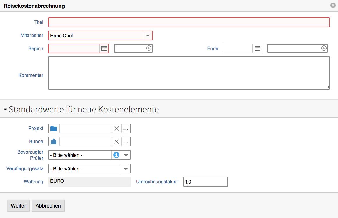 Sammelrechnung in projectfacts