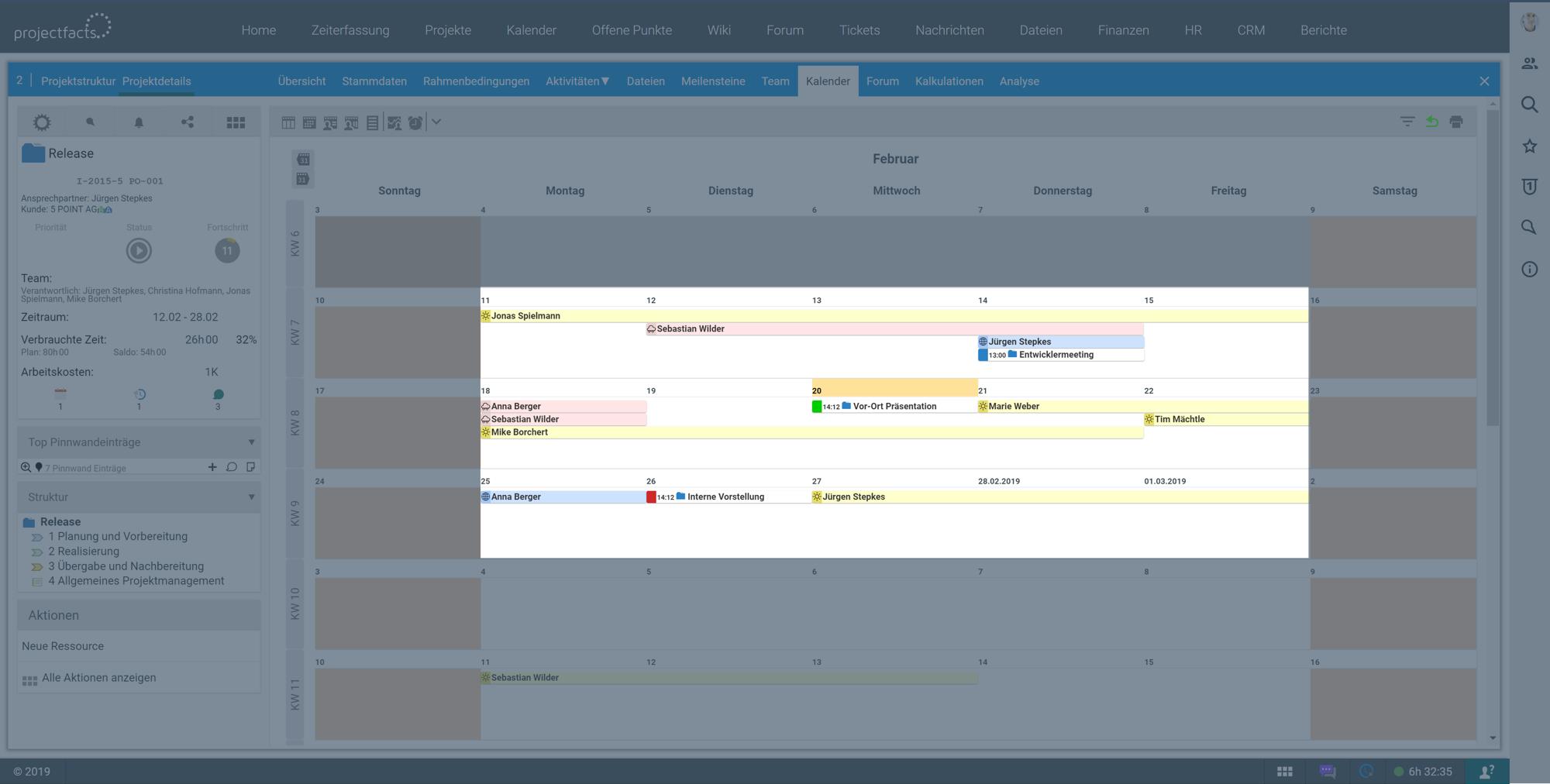 Projektkalender