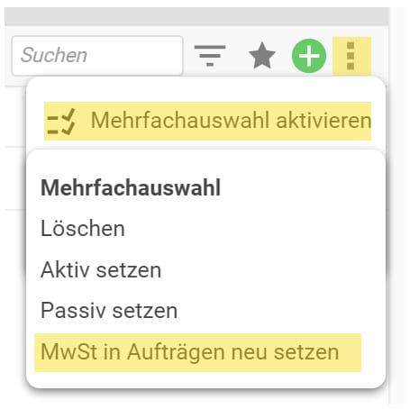 MwSt-Anpassung projectfacts