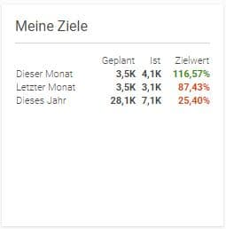 Zielerreichung projectfacts