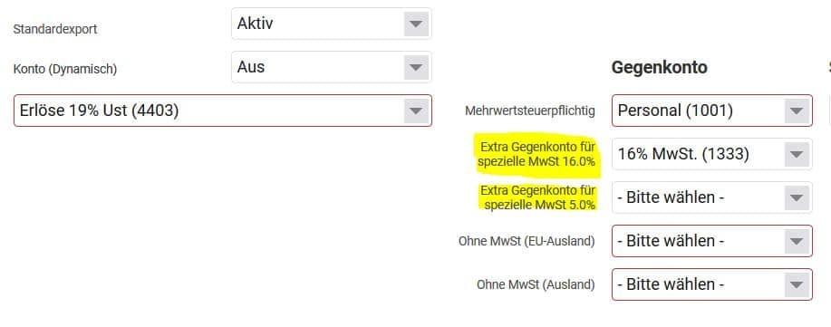 FiBu-Export projectfacts