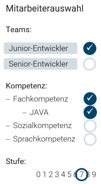HR Mitarbeiterauswahl in projectfacts